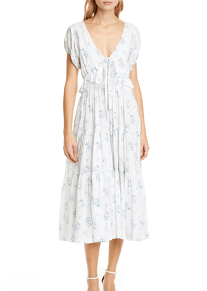 carlton dress loveshackfancy nordstrom brookie white blue swiss dot floral