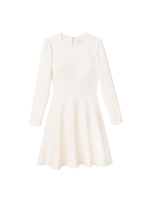 celeste dress gal meets glam ivory cream brookie long sleeve