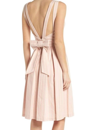 gal meets glam pink samantha striped bow back dress brookie
