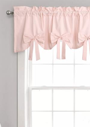 pink bow valance curtain girls target