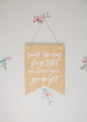 wooden flag quote sweet dreams girls room etsy home decor