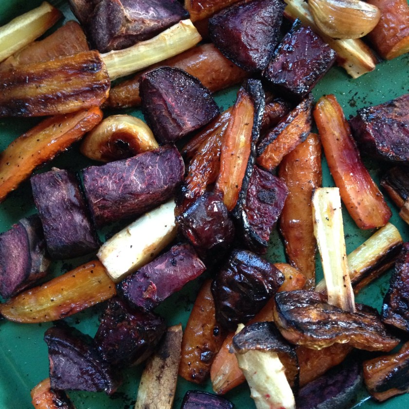 Roasted root vegetables, including carrots, are a favorite in our family.