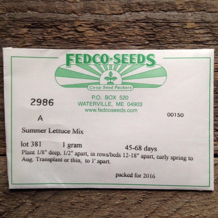 Typical seed packet.