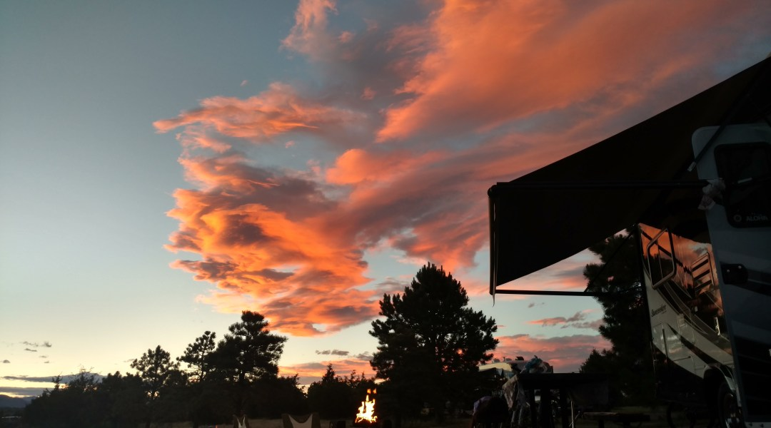 Sunset RV Camping Chatfield Colorado State Park