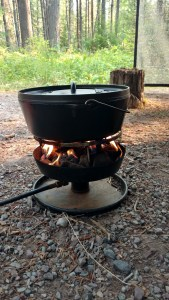 How to Bake a cake on a camp stove