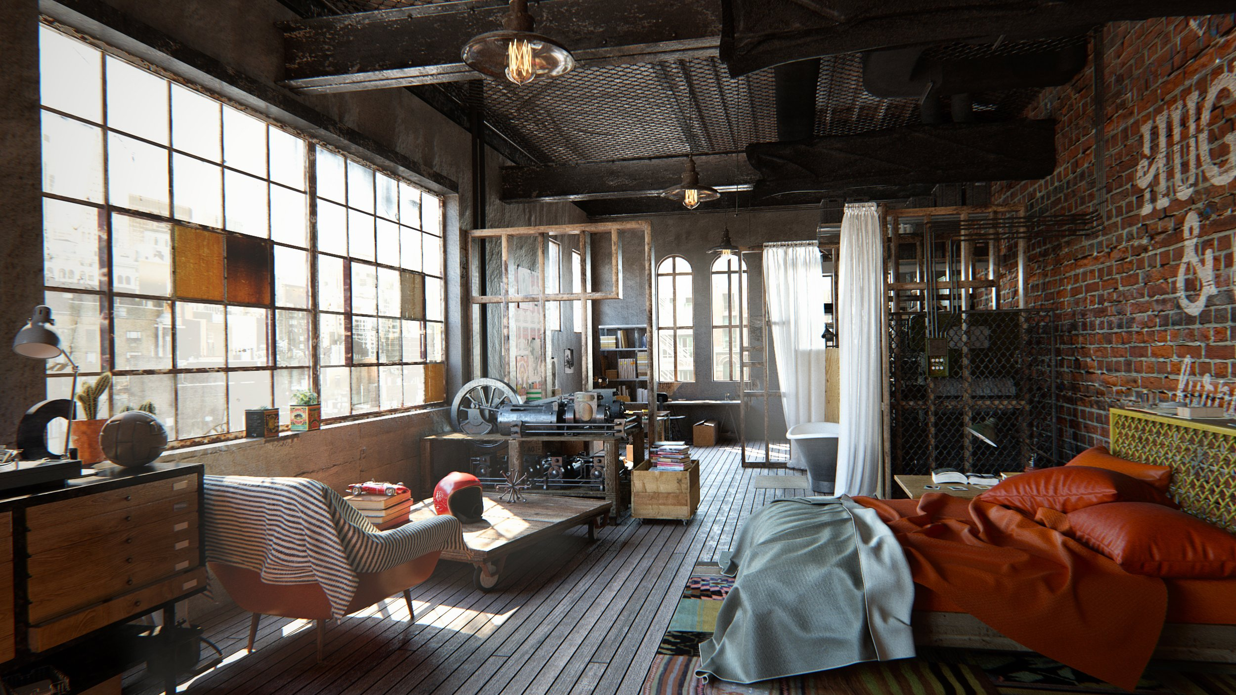 Making Of Brooklyn NYC Loft Evermotion