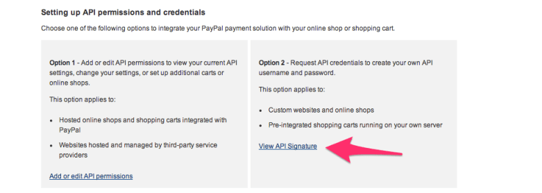 Get API Access for Paypal