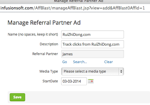 Manage Infusionsoft Referrals