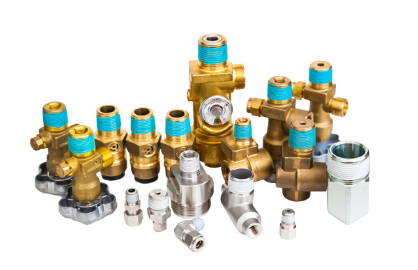 Group of threaded fittings coated in EverSeal