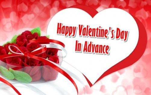Happy Valentine's Day Advance Wishes Sms