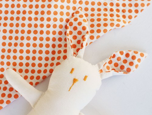 DIY Calico Soft Toy Bunny - Plush Rabbit - Learn how to sew this cute plush rabbit with instructions and printable pattern.