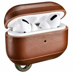 ICARER Genuine Leather iCarer AirPods Pro Case Keychain Support Wireless Charging