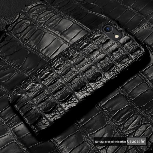 Real Crocodile Leather iPhone Case – Tail Skin