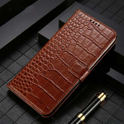 Genuine Leather Wallet Case For iPhone 12 Mini 11 Pro Max