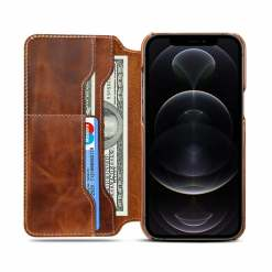 Genuine Cowhide Wallet Leather Case for iPhone 11 12 Pro Max XS 7 8 Plus