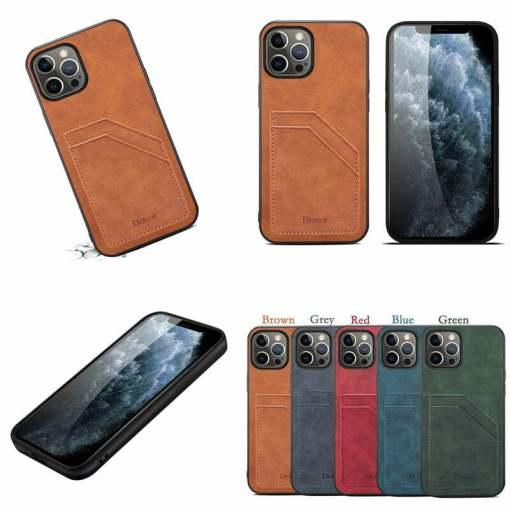 Ultra-Slim PU Leather Card Holder iPhone Case