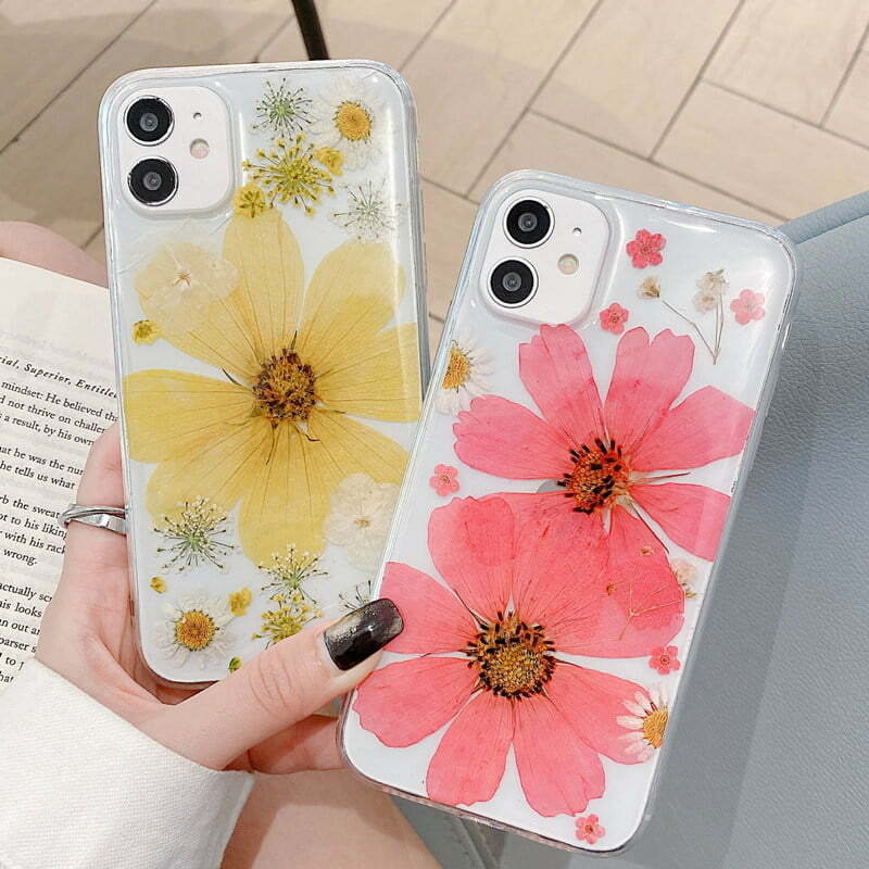 Real Dried Pressed Flower iPhone Case