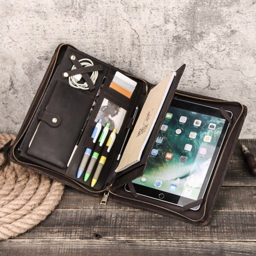 Retro Cowhide Leather Case For iPad Pro 10.5″ 9.7″