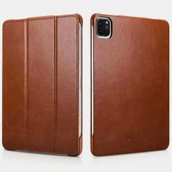 """iCarer Case for iPad Pro 11"""" 12.9"""" Genuine Leather Flip Case Stand Smart Cover"""