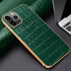 Crocodile Embossed Leather iPhone 12 Pro Max Case