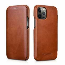ICARER Cowhide Leather Wallet Flip Cover Case For iPhone 11 12 Pro Max Mini