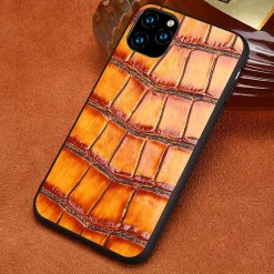 Genuine Grain Leather iPhone Case