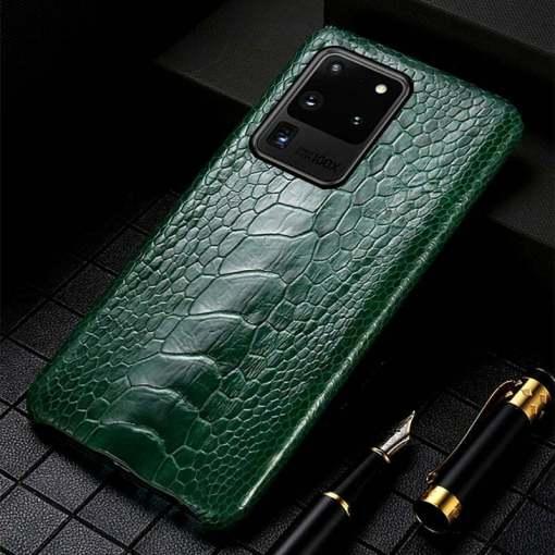 Real Ostrich Leg skin Samsung Galaxy S21 Ultra Case