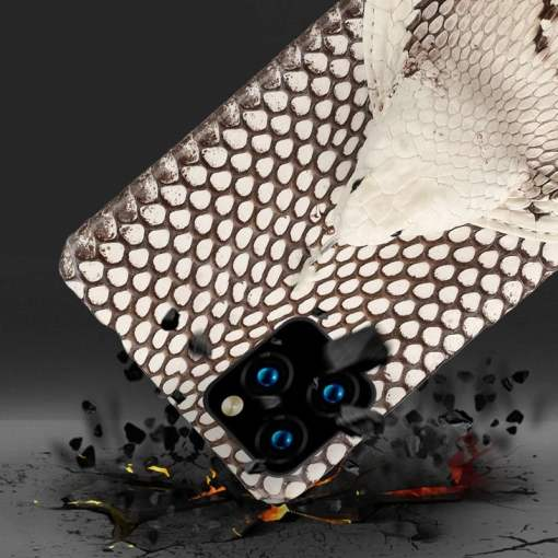 Real Snake Skin Head 3D Case for iPhone 12 Pro Max