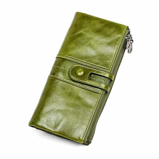 Cowhide Women Wallet Designer Money Clip Purse