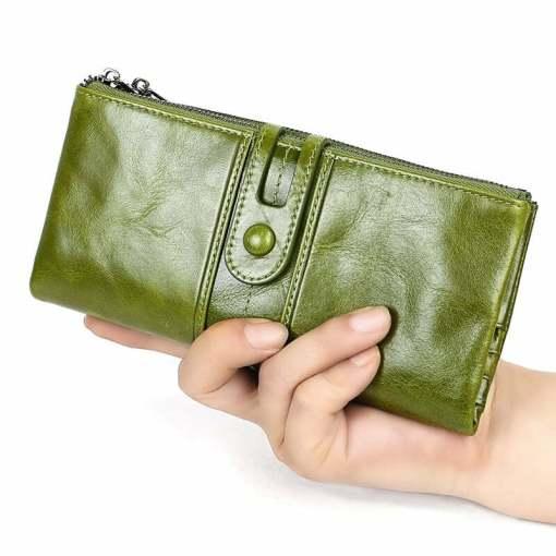 Cowhide Women Wallet Designer Money Clip Purses