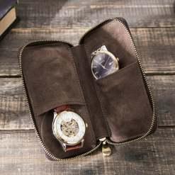Zipper Travel Watch Display Storage Box Case