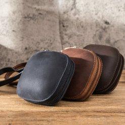 Genuine Leather Earphone Storage Box Powerbeats Pro Case