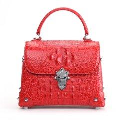 Genuine Crocodile Skin Womens Handle Handbag Fashion Satchel Red