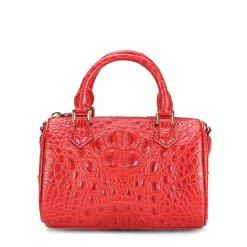 Genuine Crocodile Womens Handbag Alligator Shoulder Red
