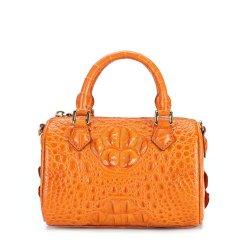 Genuine Crocodile Womens Handbag Alligator Shoulder Orange
