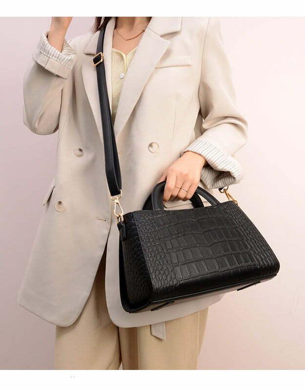 Fashion Crocodile Texture PU Shoulder Crossbody Bag