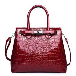 Luxury PU Leather Alligator Pattern Tote Crocodile Shoulder Bag Red