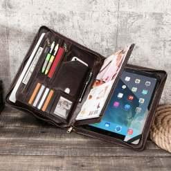 "Genuine Leather Portfolio Case for iPad Pro 12.9"""