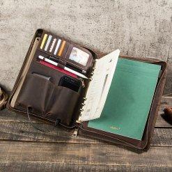 "Distressed Leather iPad Pro 10.5"" Portfolio Zipper Case"