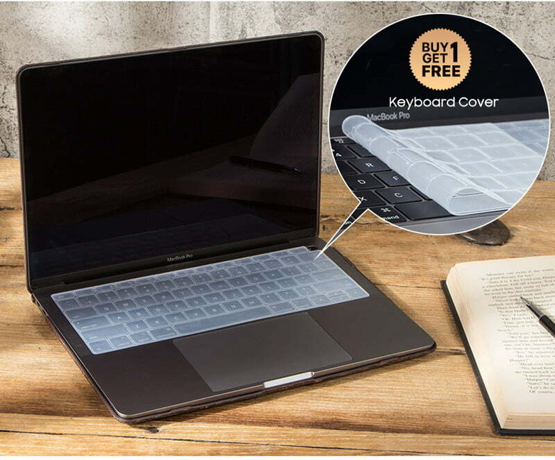 Wood Pattern Laptop Leather Case for MacBook Air 13.3