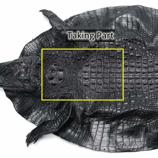Mens Genuine Crocodile Flip Long Wallet Bifold Purse