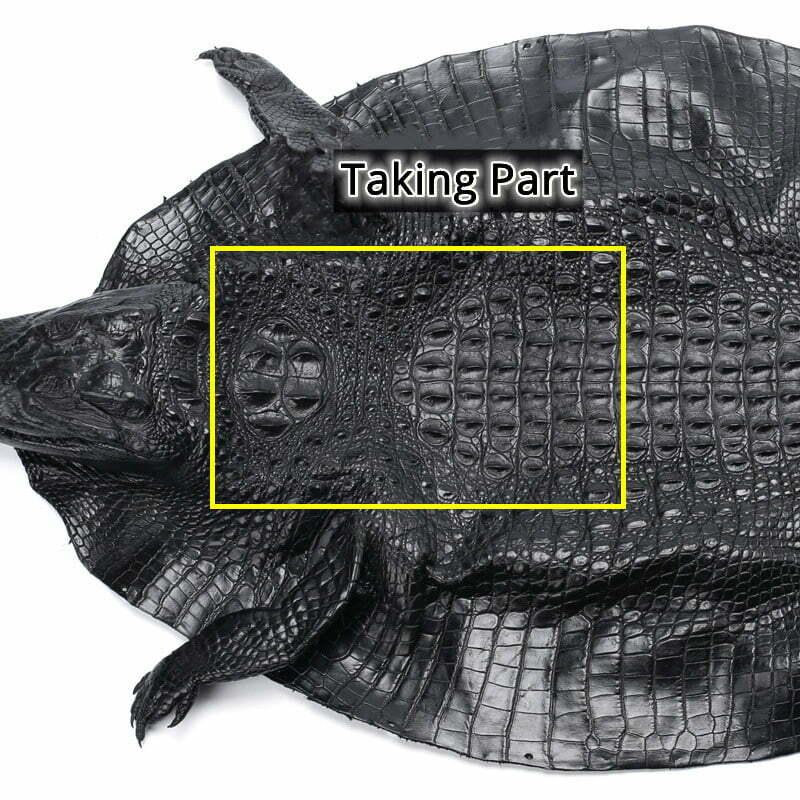 Mens Genuine Alligator Crocodile Skin Long Wallet Hand Clutch