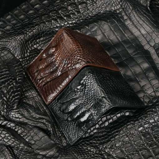 Men's Genuine Crocodile Claw Billfold Wallet Purse