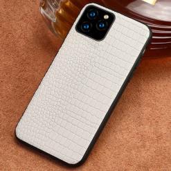 Genuine Leather Premium iPhone 12 Pro Max Case White