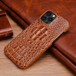 Crocodile Texture Leather Case