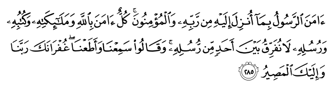 The last two verses of Surah Al-Baqarah | Quran Al Hakeem