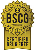 The Gold Standard. BSCG. Certified Drug Free.