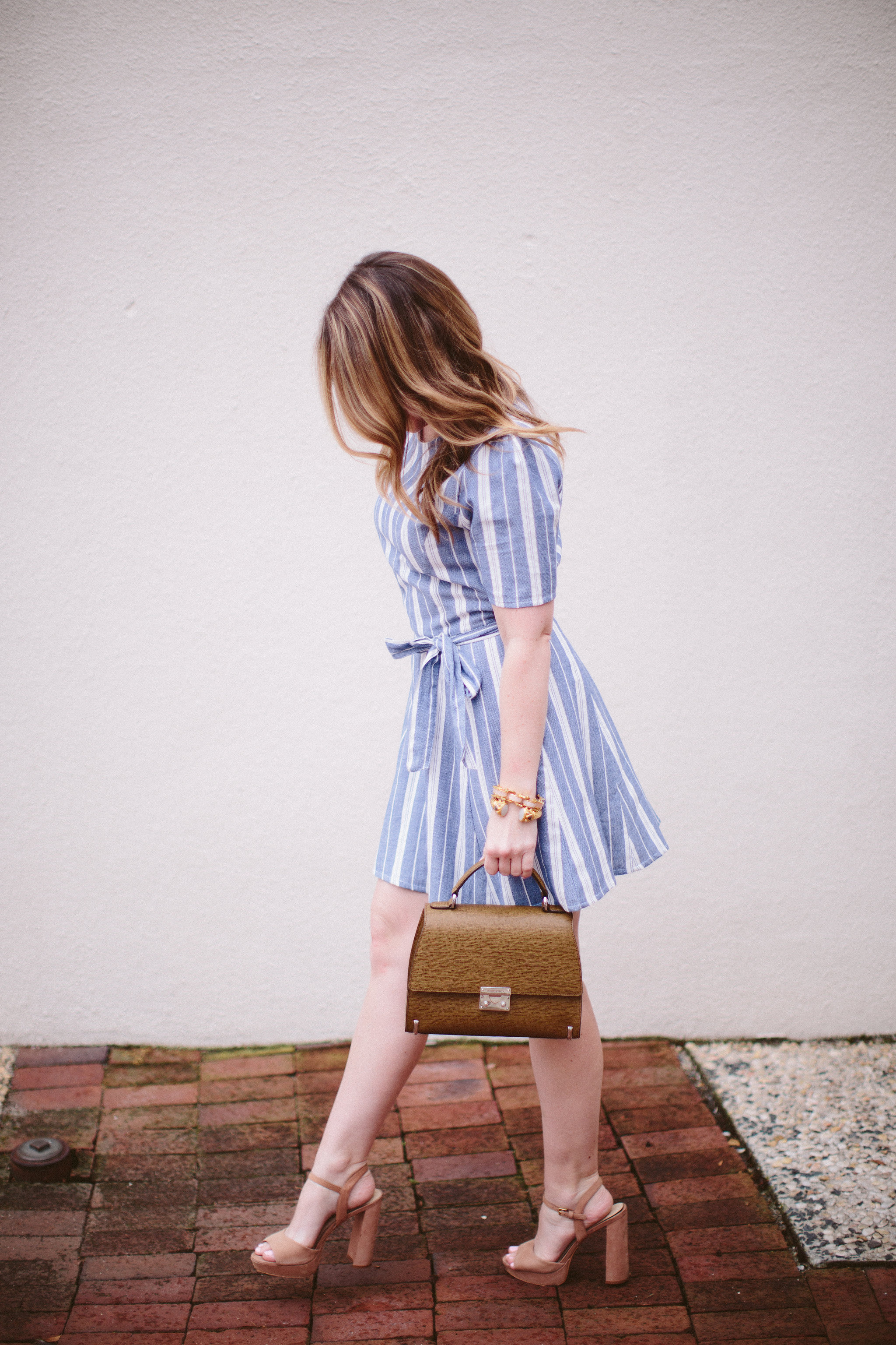Striped Dress for Spring by Charlotte NC blogger Every Chic Way