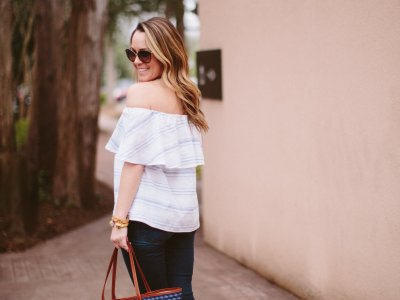 Casual Spring Off The Shoulder Top