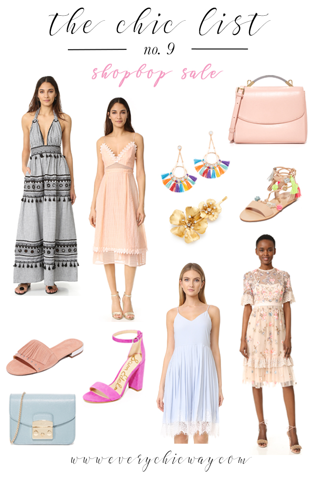 The Chic List, Shopbop Sale